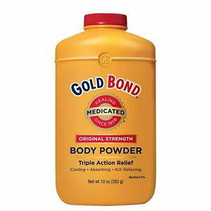 Gold Bond LARGE SIZE Body Powder Lanacane Alternative Triple Action Medicate