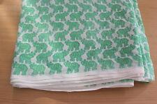 5 Yards Cotton Indian Fabric Elephant Print Hand Block printed hand print fabric