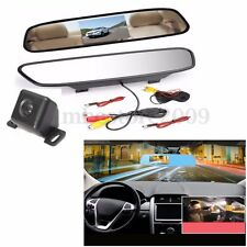 4.3'' TFT LCD Monitor Back Up Rear View Camera Night Vision Car Reversing Kit