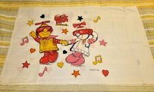 Robot Man & Friends pillow case 1984 Vintage Sheet Love