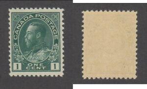 MNH Canada 1 Cent Deep Blue Green KGV Admiral Stamp #104c (Lot #19868)