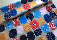 SALE Marimekko Kompotti cotton fabric, half yard beige, red blue black Finland