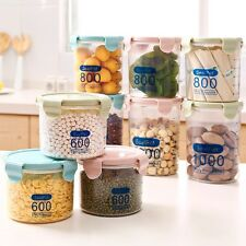 Plastic Kitchen Food Cereal Grain Bean Rice Storage Pot Container Box Case New