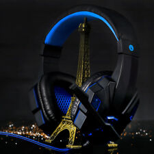 LED Light Gaming Earphone Headset Headphone Hi-Fi with Mic for PC Laptop PS3 PS4