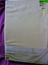 "BNIB M&S CREAM 5' VALANCE 100% COTTON PERCALE 152x200cm 60""x79"" FRILL 39cm 15"""