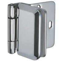 "B084.4140 CHROME OR BLACK OPTION COVER 1//4/"" GLASS DOOR CLIP HINGE"