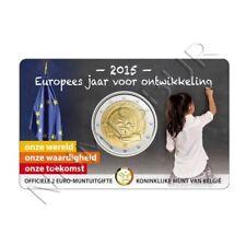 BELGICA 2 euro 2015 en coin card  Año Europeo del Desarrollo
