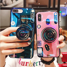 Camera Phone Soft Case+Pop Up Holder For iPhone11 Pro Max X XR XS 8 7 6Plus 6s