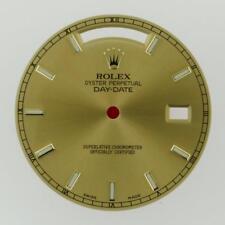Original Men's Rolex Day-Date II 218238 Champange Index Hour Dial 18KY #C19