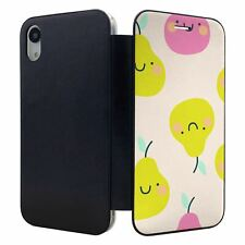 iPhone XR Flip Wallet Case Cover Pear Pattern - S3375