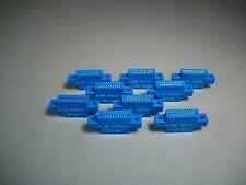 """Lot of 9 AMP 582551-1 Card Edge Connector 10/20 on 0.1"""" CL With Ears"""