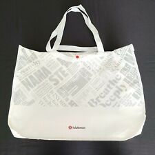 Lululemon Reusable Shopping HOLIDAY GIFT Bag White XL Tote College Recycle NEW