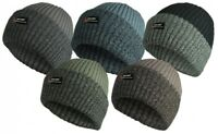 BEANIE HAT BOBBY CHUNKY KNIT WINTER MENS ROCKJOCK (THINSULATE) THERMAL LINED