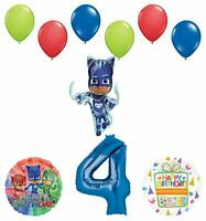 Mayflower Products PJ Masks Catboy 4th Birthday Party Supplies Balloon Bouquet