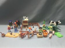Playmobil Bauernhof Streichelzoo Zaun Hasen Ferkel Erweiterung Kuh See*Y28*