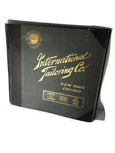 Rare 1934 International Tailoring Co.Catalog Vintage Large Salesman Sample Book