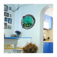 3D Window Finding Nemo Wall Decals Stickers Kids Bathroom Home Room Decor DIY