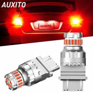 2x LED Red Strobe Blinking Flash Brake Stop Tail Light 3057 3157 for Toyota Ford