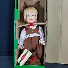 Christmas Around The World Porcelain Doll 1995 Oh What a Deer w/Reindeer Costume