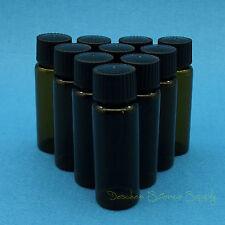 10 PCS 30ml Amber Glass Reagent Bottle,Penicillin Vials,Black PP Screw Lid