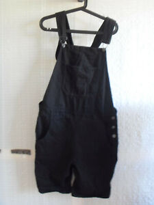 """""""BOO HOO MAN"""" Black Overall, Size M, please refer to the photos, Cotton"""