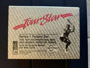 1991 NetPro Net Pro Tour Stars Series 1 Factory Selaed Set Box - Agassi Sampras