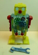 VTG Tomy 1969 See Through Robot with Gears Missing Parts Works Winds up Japan
