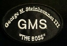 """George M. Steinbrenner- OFFICIAL LEFT CHEST """"RIP"""" DEATH PATCH! RARE ON EBAY!!!"""