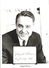 Sargent Shriver Autograph Founder Peace Corps French Ambassador Kennedy JFK #2
