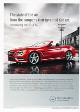 2013 Mercedes Benz SL550 SL-Class Original Advertisement Print Art Car Ad J888