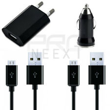 4 en 1 Cable cargador Micro USB CABLE COCHE Alimentación para Samsung Galaxy S4