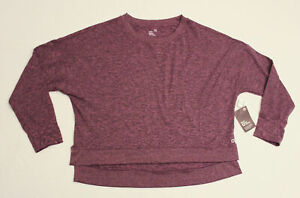 GapFit Women's Brushed Tech Jersey Sweatshirt KT4 Purple Amethyst Large NWT