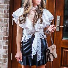Women Shirt Fashion Party Sexy Summer Lace Designer Luxury Wholesale Blouse Chic