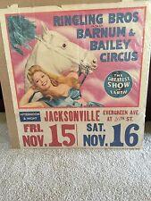 Original Ringling Bros Barnum & Bailey Circus 1940's with Rare Date Tag Florida