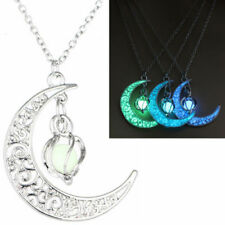 OFFbb-USA Strabismus Countenance Splendid Lady Necklaces Pendant Retro Moon Stars Jewelry