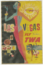 1950's Las Vegas Fly TWA Vintage Advertising Poster 11x17 Lockheed L-749