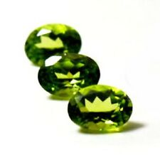 NATURAL PRETTY GREEN PERIDOT LOOSE GEMSTONES (3pieces / 6 x 4 mm) OVAL SHAPE