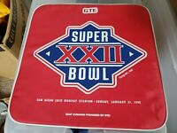Vintage 1988 Super Bowl XXII 22 Redskins Broncos NFL Original Seat Cushion