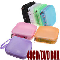 Portable 40 Disc CD DVD Storage Zipper Bag Case Hard Box Wallet Album Holder js