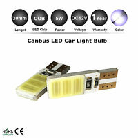 2x Canbus COB T10 WHITE LED W5W CAR PARKER WEDGE LIGHT SIDE BULB WORK LAMP DC12V