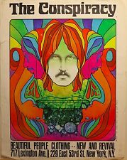 1970 psychedelic art poster vintage clothing store Lexington Ave. New York City