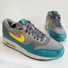 Nike Air Max 1 Essential Running Shoes Gray Teal Catalina 537383-018 Men's 8.5