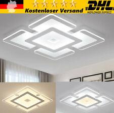 Modern LED Deckenlampe ultraflach Wohnzimmer Panel Deckenleuchte Flur Slim Weiß