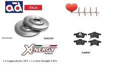 Dischi + Pastiglie Freno Anteriori Xenergy Opel Astra G H GTC Meriva A B Zafira