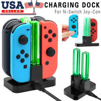 4 in 1 LED Controller Charger Charging Dock Station For Nintendo Switch joy-con
