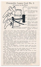 Osteopathic Lesson Card Number Two A Lesion in the Back - Vintage Postcard c1905