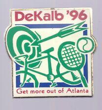 1996 DeKalb Atlanta Olympic Pin Tennis Cycling Archery