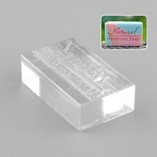Nice Acrylic Rectangle Natural Word Handmade Clear Soap Stamp Seal Mold Mould