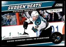 2011-12 Score The Franchise Patrick Marleau #5