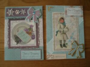 2 x A5 Hand Made Happy New Year Cards with Envelopes